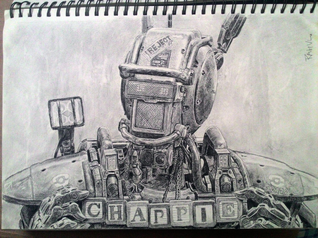 Portrait attempt of CHAPPIE by TheComicArtist