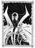 Spawn Black and White ink by GonzRama87