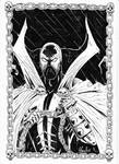 Spawn Black and White ink