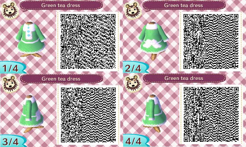 Green tea dress QR Codes by Bjnix248