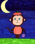 Monkey's Happy Halloween. by Bjnix248