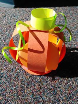 3D paper pumpkin