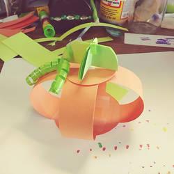 a 3D Paper Pumpkin