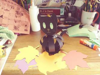 A Autumn Black Cat
