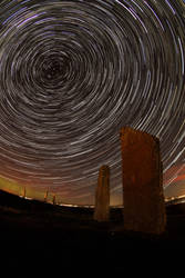Ring of Brodgar Startrail by paddimir