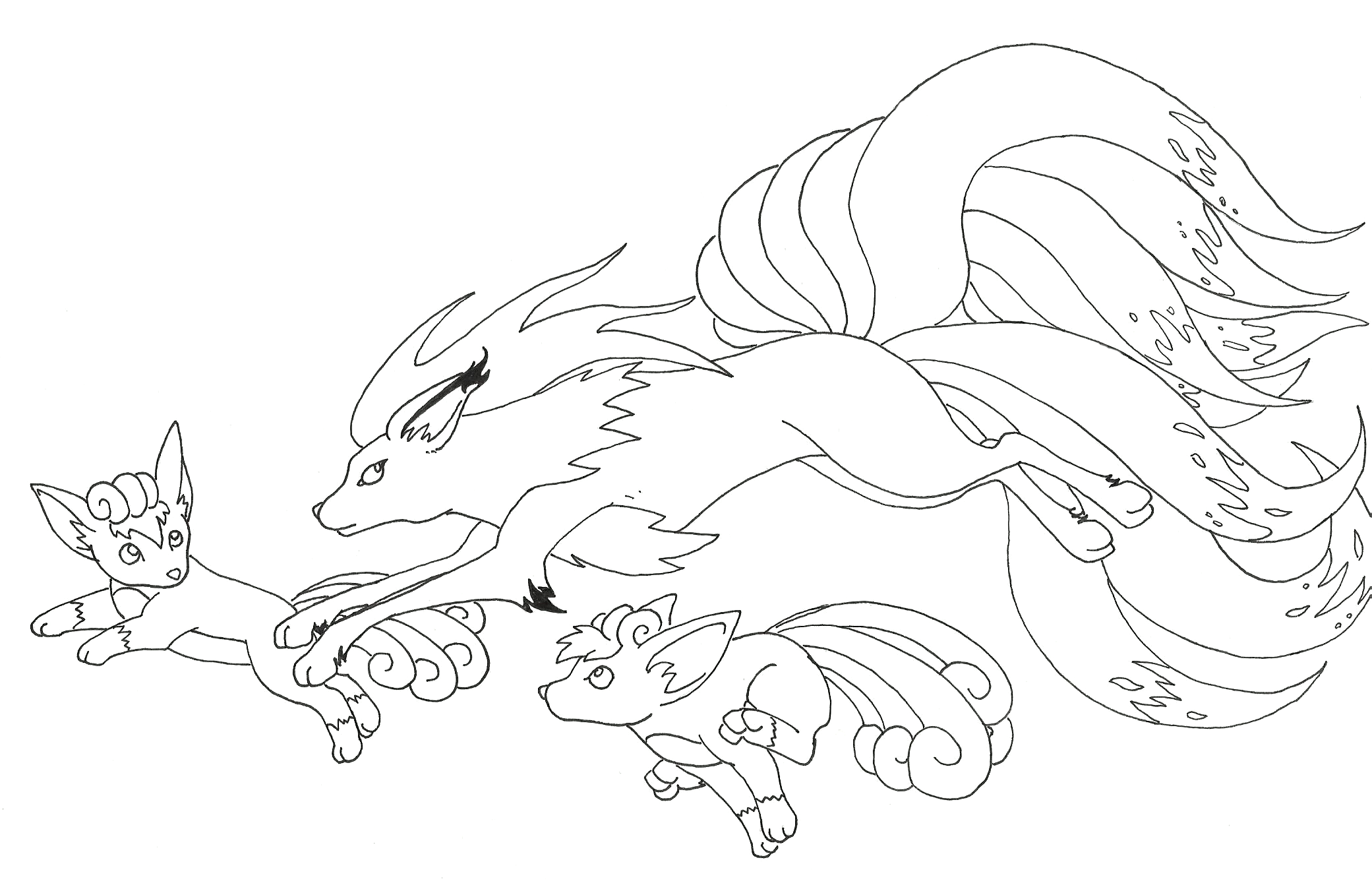 pokemon coloring pages ninetails - photo#14