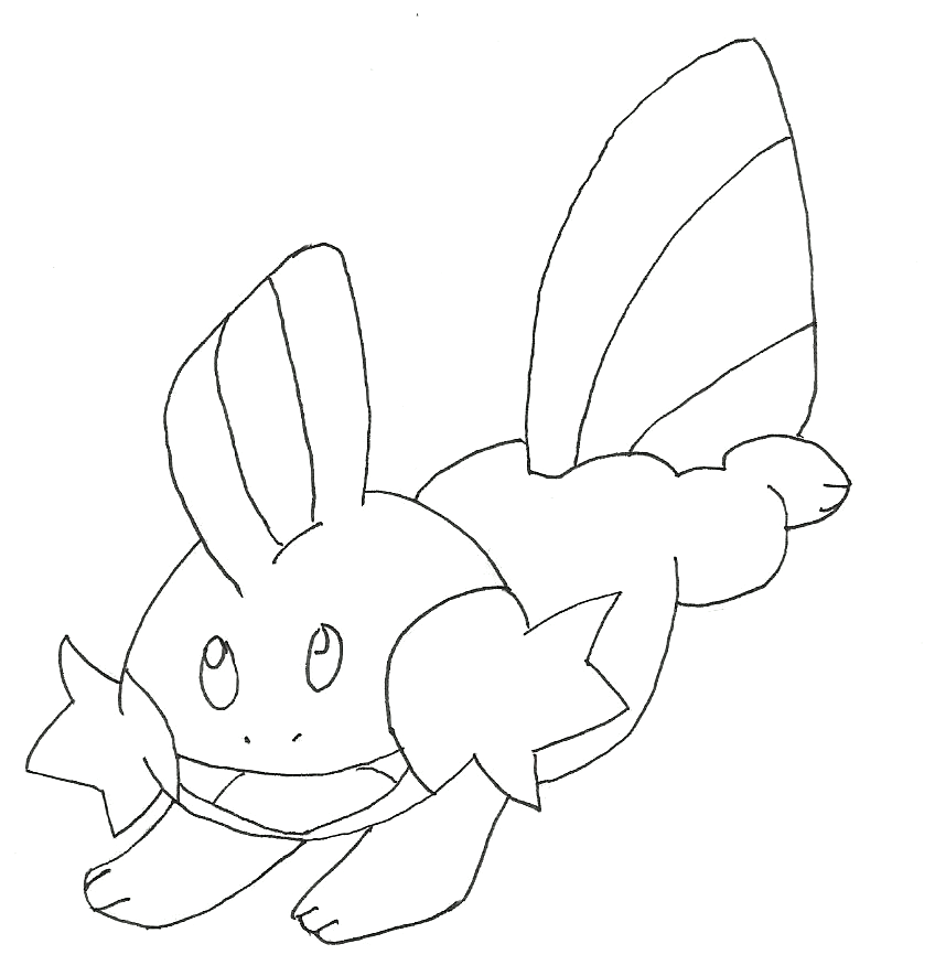 mudkip coloring pages - photo#10