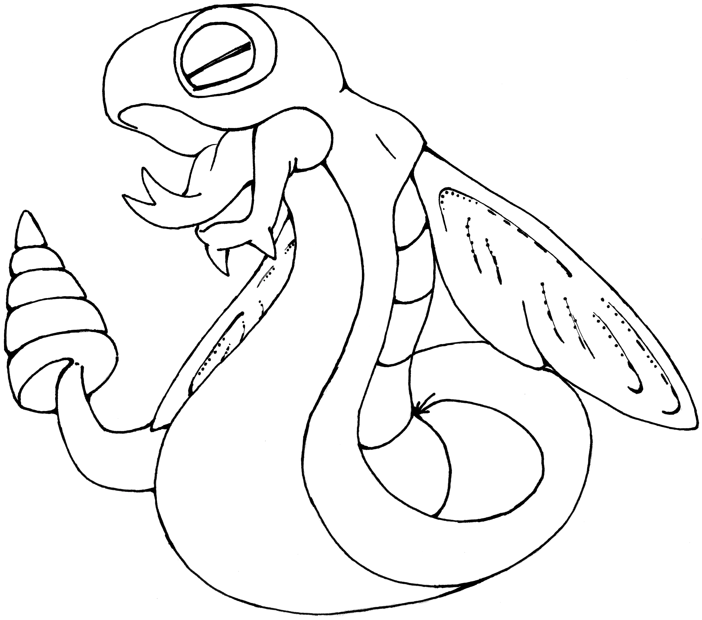 dunsparce pokemon coloring pages - photo#8