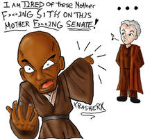 Mace windu-snakes on a plane by xBasherx