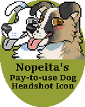 P2U Dog Headshot Pixel Icon Base
