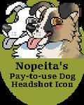 P2U Dog Headshot Pixel Icon Base