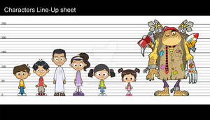 Characters lineup