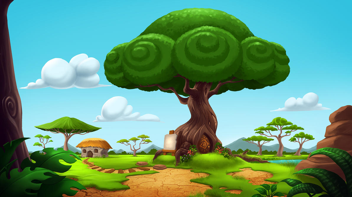 Hukaiman Forest environment  by X-Factorism