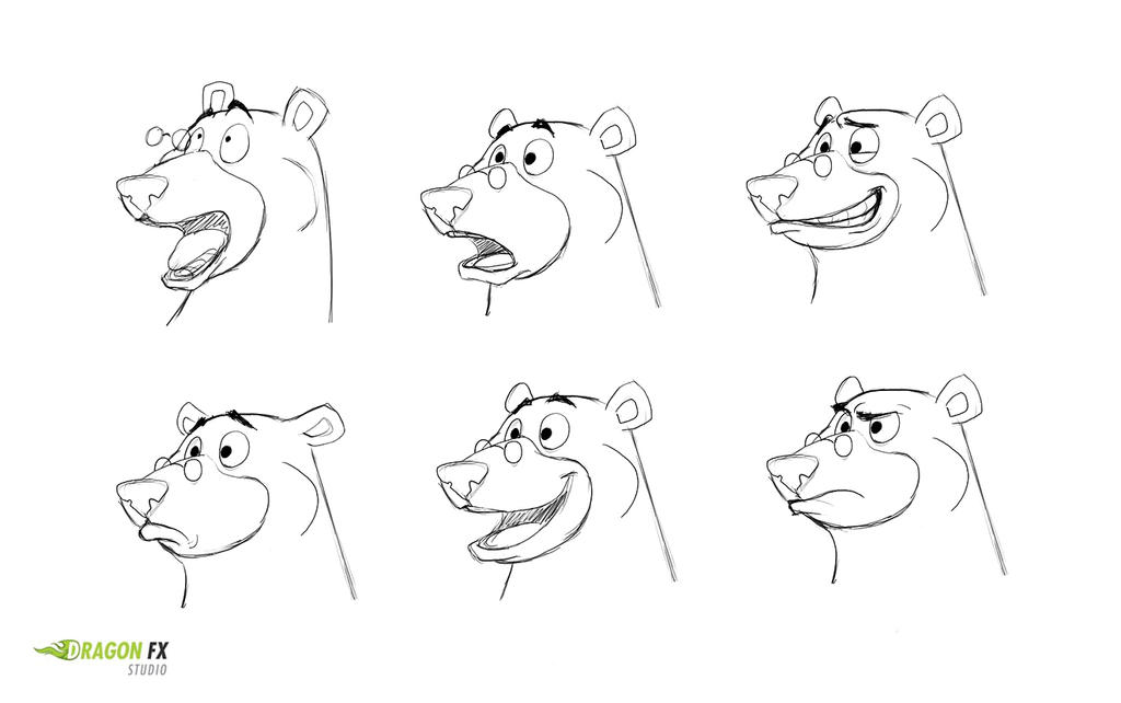 Bear facial expressions by X-Factorism
