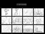 Smurfs storyboard
