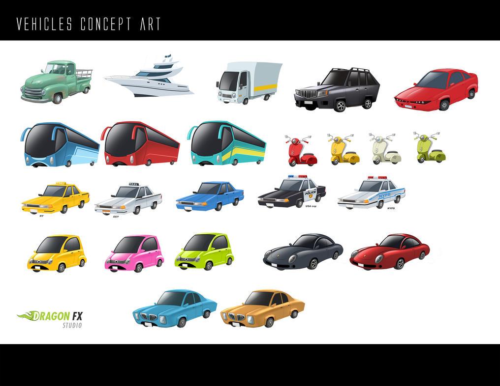 Vehicles concept by X-Factorism