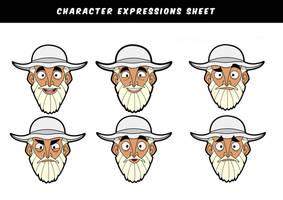 Fisherman facial expressions
