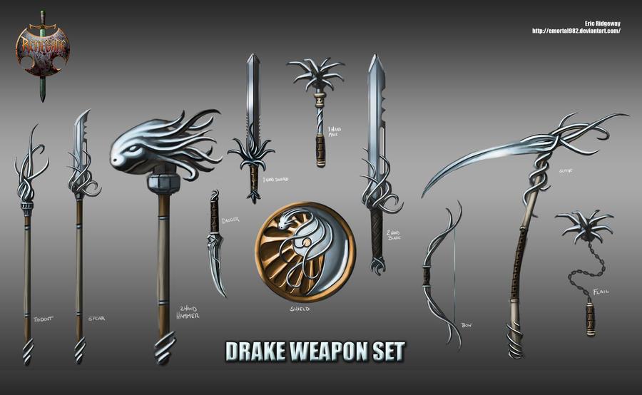 http://img01.deviantart.net/6afa/i/2011/285/1/6/drake_weapon_set_by_emortal982-d4cmq9j.jpg