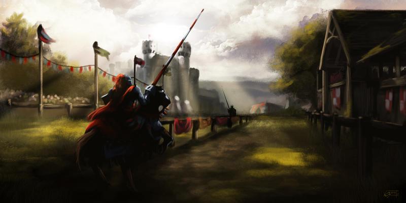 Joust scene concept by Emortal982