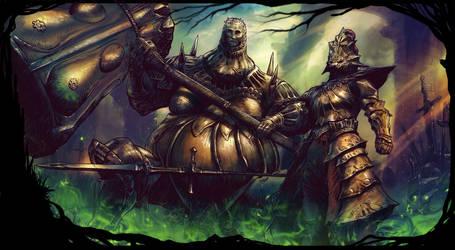 Dragon Slayer Ornstein and Executioner Smough by Emortal982