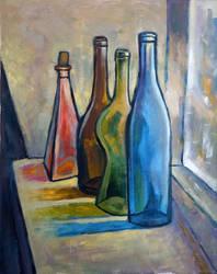 Bottles on a windowsill