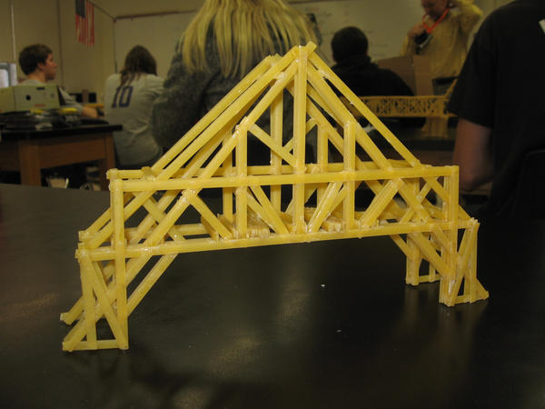 Pasta Bridge (physics) - xkcd