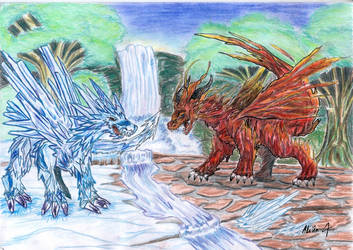 Fire and Ice by Firenz