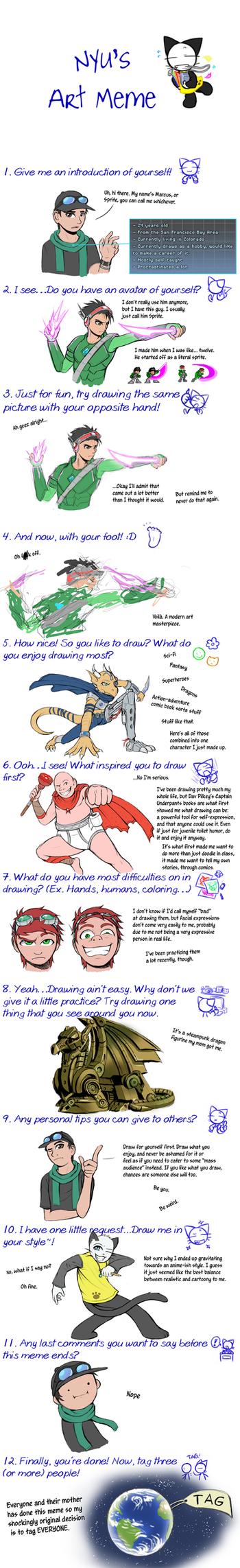 Nyu's Art Meme by Spritedude