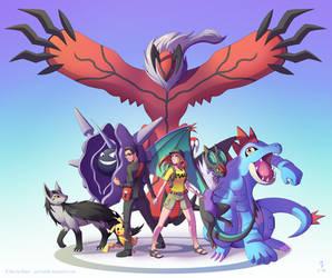 AJ and Shelby - Pokemon Team by Spritedude