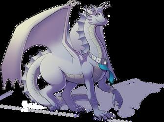 DnD - Beldryxyss, Silver Dragon by Spritedude