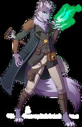 DnD - Lupin Warlock by Spritedude