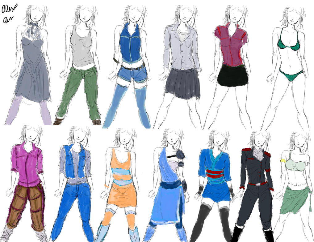 clothing designs practice 1 by goldencard on deviantart