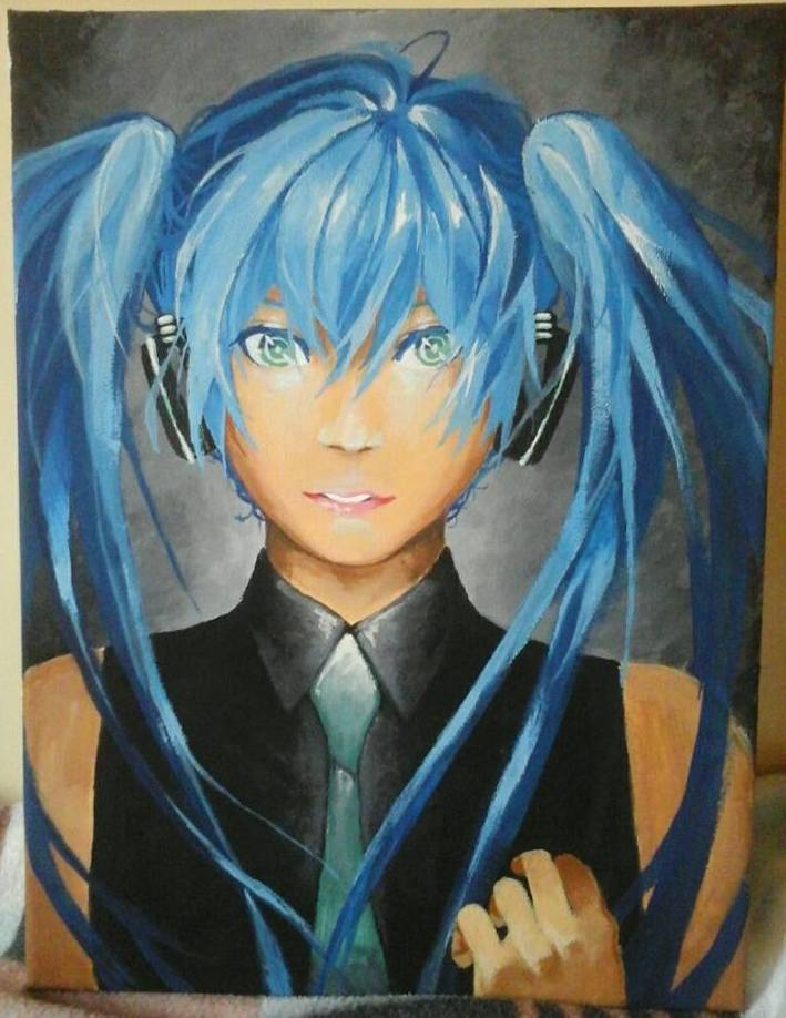 Miku on Canvas by prinssun