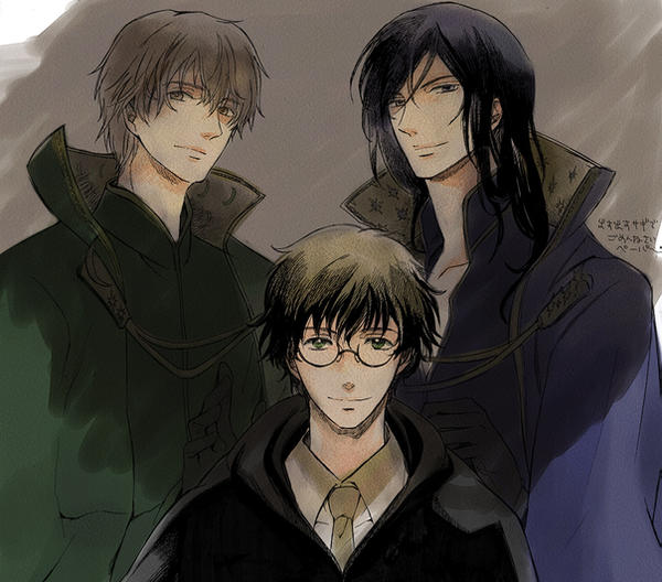 Harry,Remus,Sirius by chirokko on DeviantArt