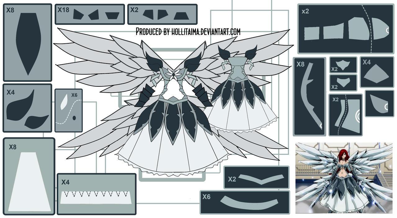 Erza Scarlet HWA Cosplay Design Draft by Hollitaima