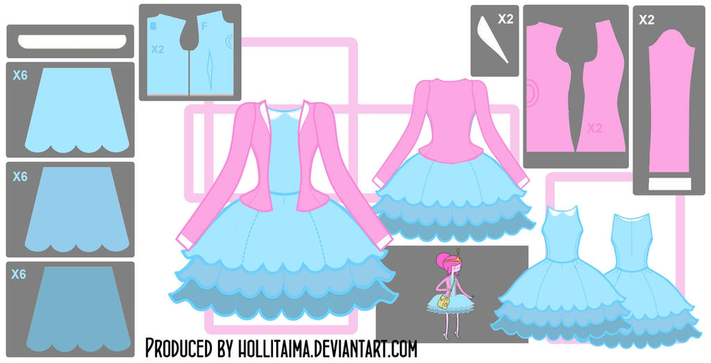 PB Short Blue Dress Cosplay Design Draft by Hollitaima