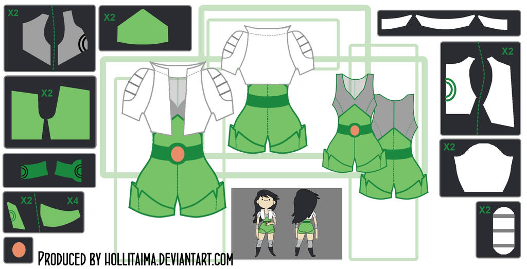 Beth Tezuka Cosplay Costume Design Draft by Hollitaima
