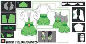 Beth Tezuka Cosplay Costume Design Draft