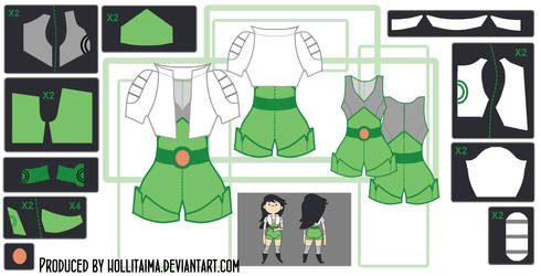 Beth Tezuka Cosplay Costume Design Draft by Hollitaima