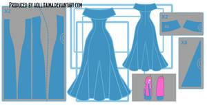 PB 'go with me' cosplay dress design draft