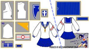 Tokiko Tsumura Sailor Fuku Pattern Draft Design