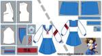 Haruhi Suzumiya Sailor Fuku Pattern Draft