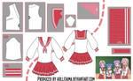 Lucky Star Seifuku Cosplay Design Draft