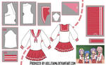 Lucky Star Seifuku Cosplay Design Draft