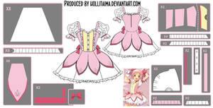 Madoka Kaname ~Magical Dress~ Cosplay Design Draft