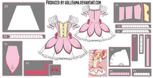 Madoka Kaname ~Magical Dress~ Cosplay Design Draft by Hollitaima