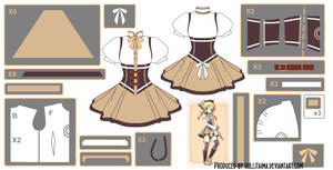 Mami Tomoe ~Magical Dress~ Cosplay Design Draft