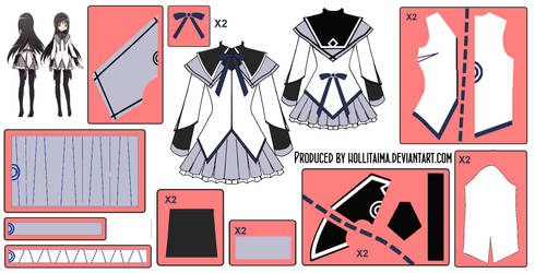 Homura Akemi ~Magical Dress~ Cosplay Design Draft