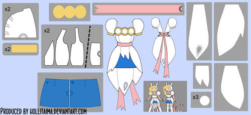 Fionna Ripped Cosplay Dress Pattern Draft