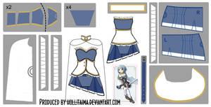 Sayaka Miki Magical Dress Cosplay Design Draft